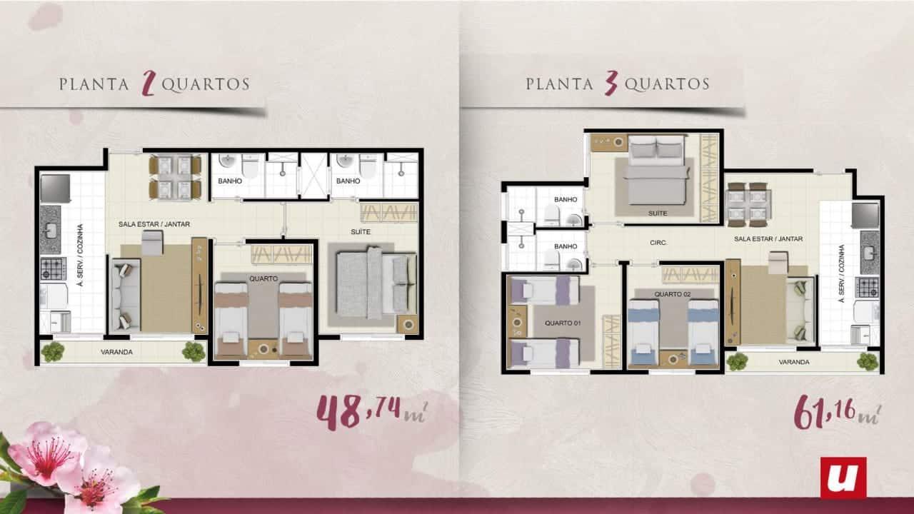 planta 2 -3 quartos